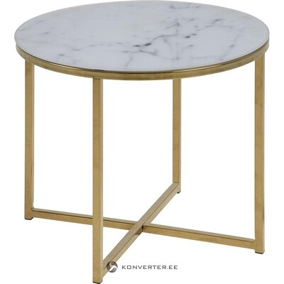 Marble imitation coffee table (actona) (whole, in a box)