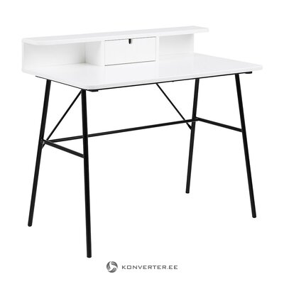 Black and white design table (actona) (with flaws., Hall sample)