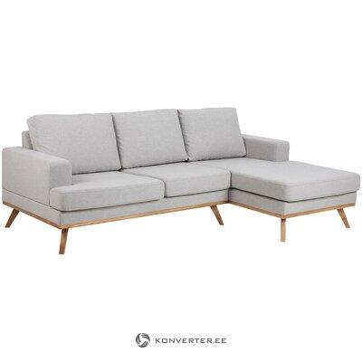 Gaiši pelēks stūra dīvāns (Norwich) (ar skaistuma defektiem. Hall paraugs)