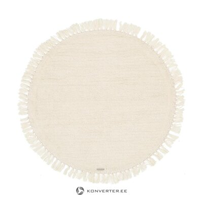 Round creamy rug (bloomingville) (whole, in a box)