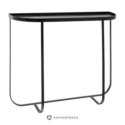 Black metal console table (bloomingville) (with defects., Hall sample)