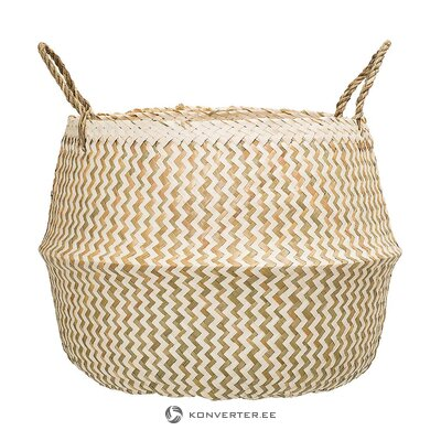 Beige-green storage basket (bloomingville)
