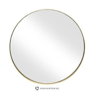 Зеркало круглое золотое настенное (филе)