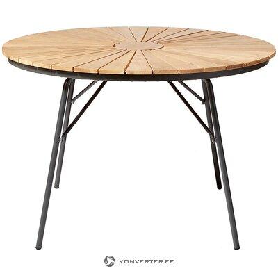 Medžio masyvo sodo stalas (cinas) (visas, dėžutėje)