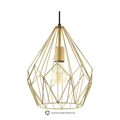 Golden pendant light (eglo) (whole, in box)