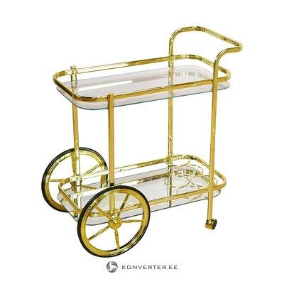 Golden serving trolley (heinz hofmann)