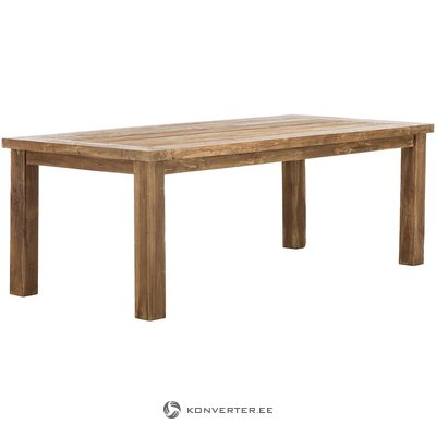 Massiivipuusta ruokapöytä (henk schram)