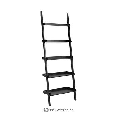 Black ladder shelf (interstil dänemark) (whole, in a box)