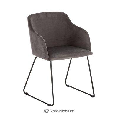Harmaa samettinen tuoli (interstil dänemark) (terve näyte)