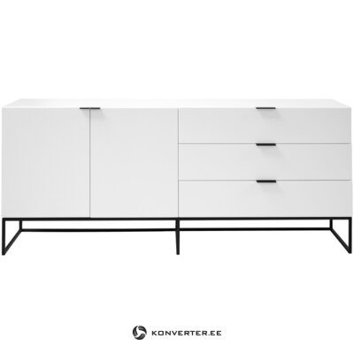 White-black chest of drawers kobe (interstil dänemark) (with defects in beauty in a box)
