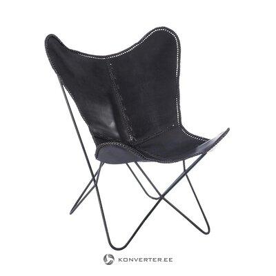 Черное кожаное кресло (линия j)