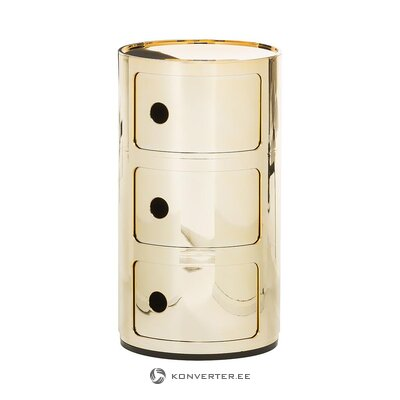 Gold-colored design bedside table (cartel) (whole, hall sample)