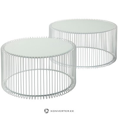 Set of metal coffee tables (rough design) (whole, in a box)