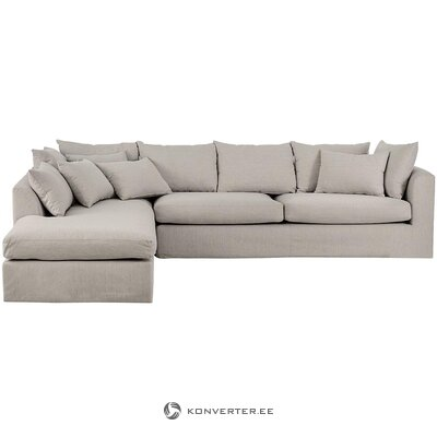 Gray-beige corner sofa (nordified) (whole, hall sample)