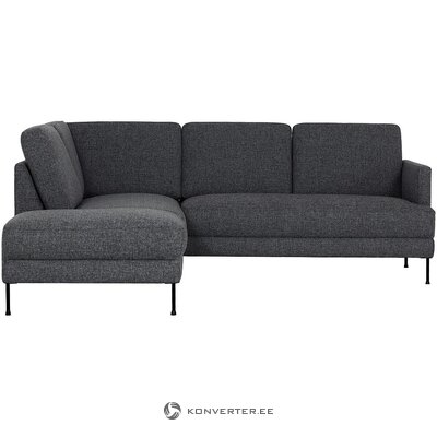 Dark gray corner sofa (fluente)