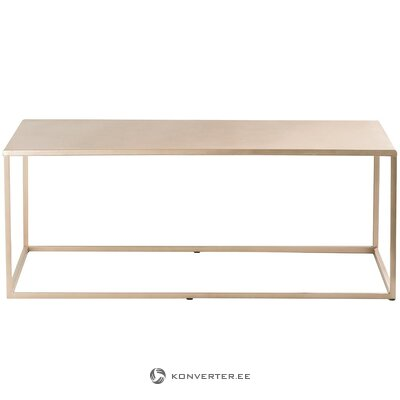 Metal beige coffee table (with defects., Hall sample)