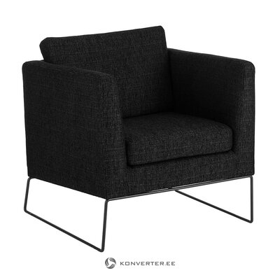 Black armchair (milo)