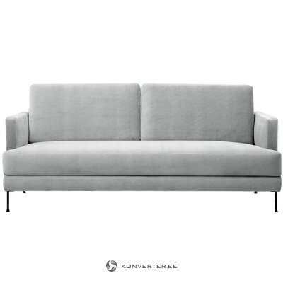 Light gray velvet sofa