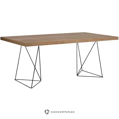 Walnut dining table (temahome) (in box, with defect)