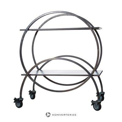 Juodas serviravimo vežimėlis (wikholmform) (visas, dėžutėje)