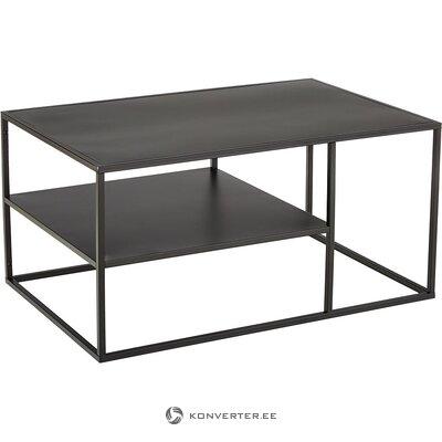 Musta metallinen sohvapöytä (actona) (pieniä puutteita salinäyte)