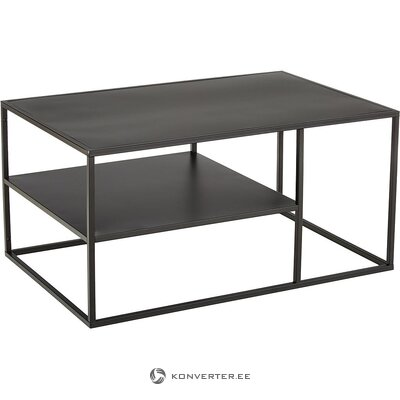 Black metal coffee table (actona) (hall sample, whole)