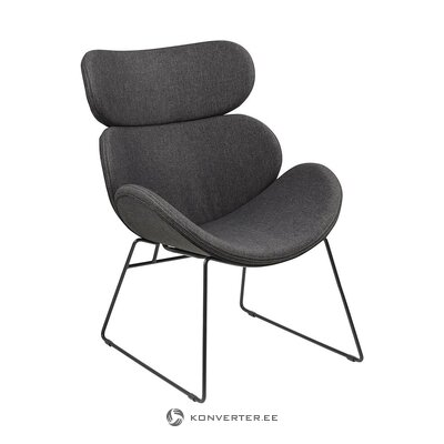 Dark gray armchair (actona)