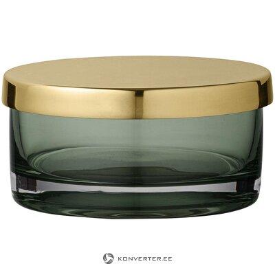 Баночка для хранения зелено-золотая (айтм) (целая, в ящике)