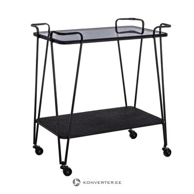 Black serving trolley (bizzotto) (hall sample)