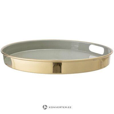 Golden-light gray tray (bloomingville) (whole, in box)