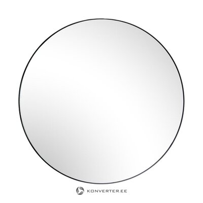 Round wall mirror with black frame (broste copenhagen)