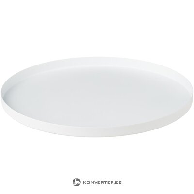 White tray (cooee design) (with defects., Hall sample)