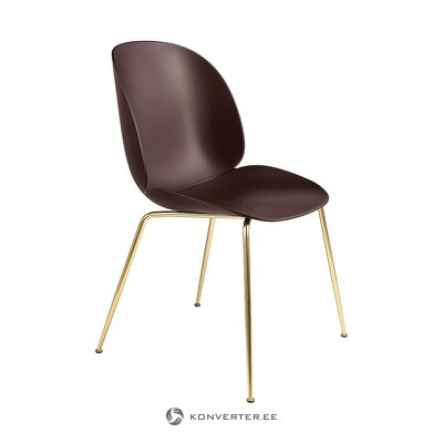 Brown-gold design chair (gubi)