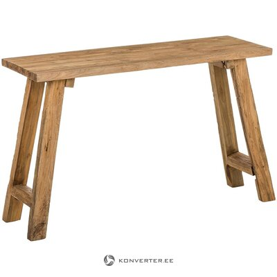 Medžio masyvo konsolinis stalas (henk schram) (visas, dėžutėje)