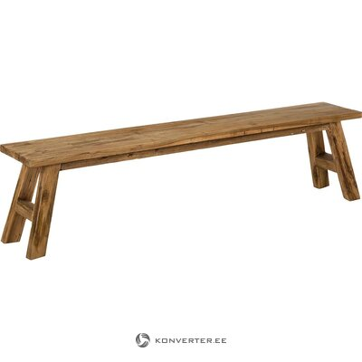 Solid wood bench (henk schram) (whole, sample)