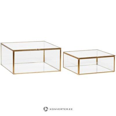 2 dalių sandėliavimo dėžučių komplektas (hübsch) (visas, dėžutėje)