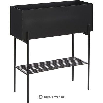 Musta metallinen kukkapenkki (hübsch) (koko, laatikossa)