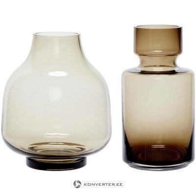 Набор светло-коричневых ваз (hübsch)