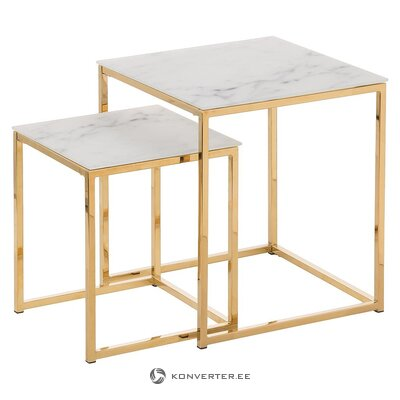 Marble imitation coffee table set (actona) (whole, hall sample)