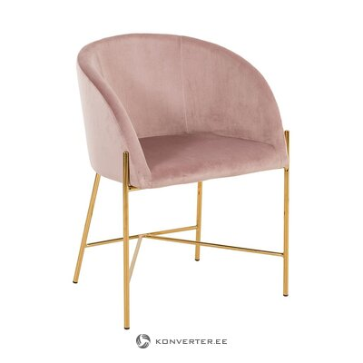 Dark pink velvet armchair (interstil dänemark)