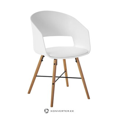 White-brown design chair (interstil dänemark) (whole, hall sample)