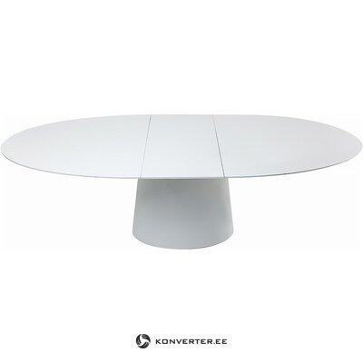 Стол обеденный раздвижной овальный глянцевый (грубый дизайн) (в коробке, целиком)