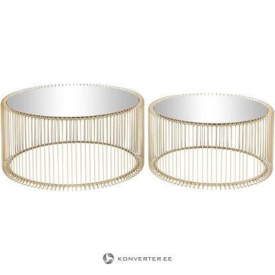 Kultainen sarja sohvapöytiä 2-osainen (karkea muotoilu) (salinäyte)