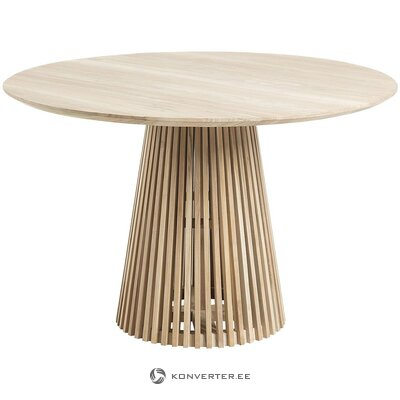 Round solid wood dining table (la forma) (with defects., Hall sample)
