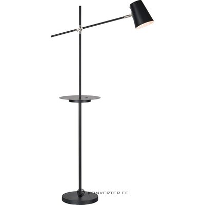 Black metal floor lamp (markslöjd) (in box, whole)