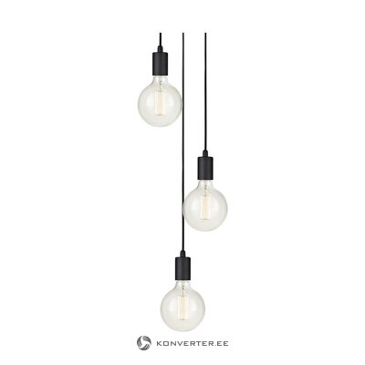 Black pendant light (markslöjd) (whole, in box)