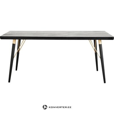 Black dining table (marlena) (hall sample, with beauty defect,)