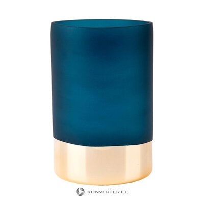 Blue-gold flower vase (present time) (whole, in a box)