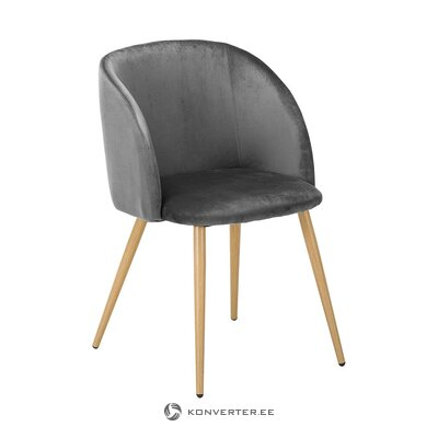 Gray-brown velvet chair (jella & jorg) (healthy)