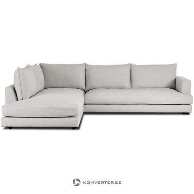 Pelēks liels stūra dīvāns (tribeca) (boksēts, vesels)
